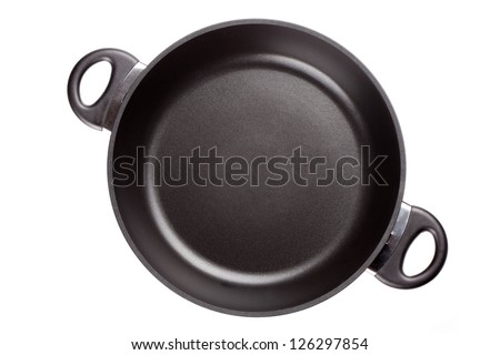 Frying pan. Isolated on white