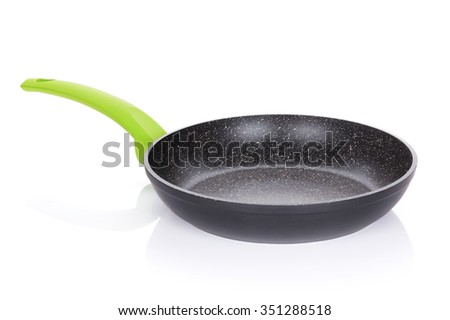 Frying pan. Isolated on white background - stock photo