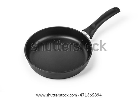 frying pan isolated on white background with clipping path