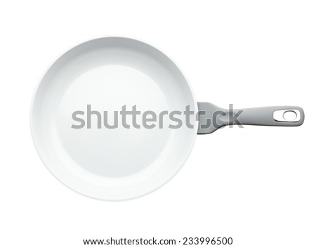 Frying pan isolated on white background without shadow - stock photo