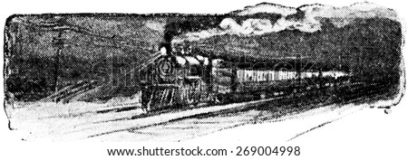 Fuel and steam are necessary to run an engine, vintage engraved illustration.  - stock photo