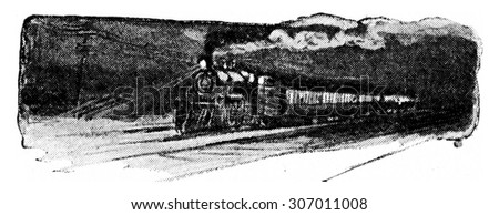 Fuel and steam are necessary to run an engine, vintage engraved illustration.