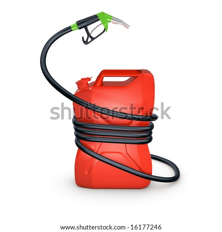 fuel canister compressed a hose isolated