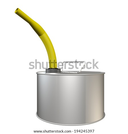Fuel container realistic. isolated white background. 3d