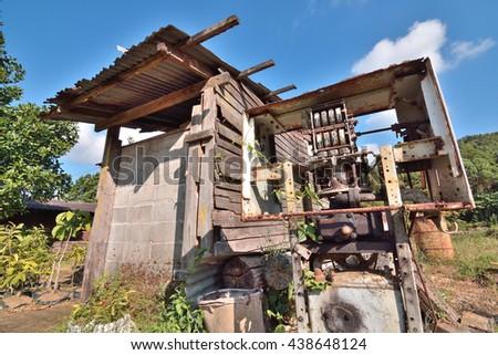 fuel dispensers,old oil gasoline dispenser,THAILAND - stock photo