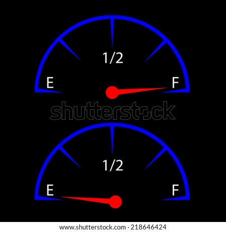 fuel gauge - empty and full concept