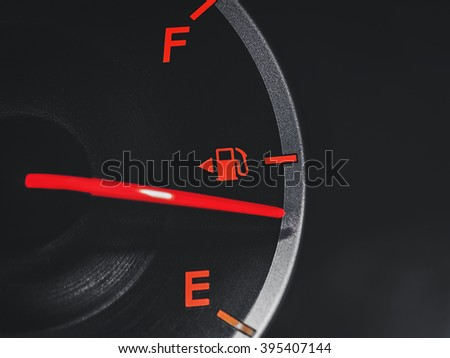 fuel gauge in the dark