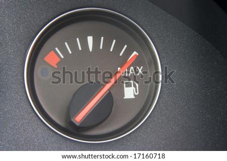 Fuel Gauge Reading Full - stock photo