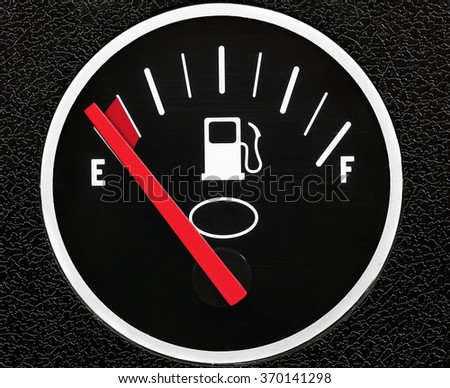 Fuel meter close-up