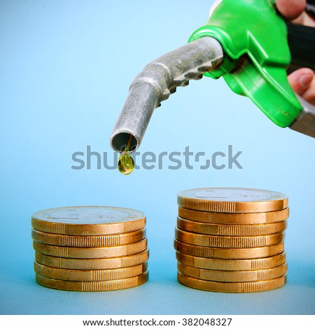 Fuel pipe and euro coins