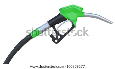 Fuel pump nozzle isolated on a white background