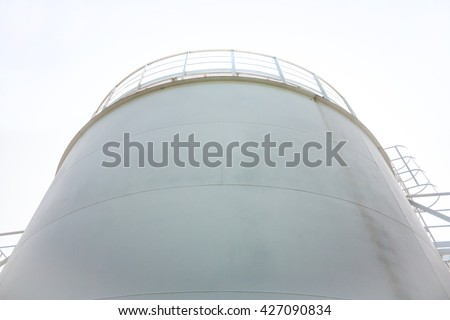 Fuel store tank of refueling complex - stock photo
