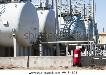 fuel tanks on industrial site