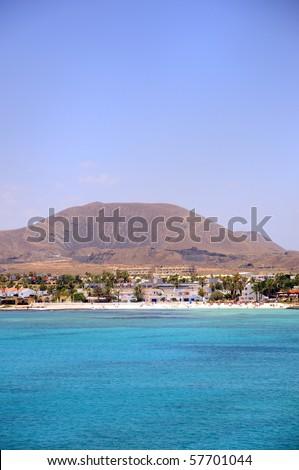 Fuerteventura beach. Canary Island - stock photo