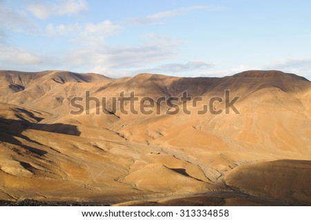 Fuerteventura is an Island in Canary Spain - stock photo