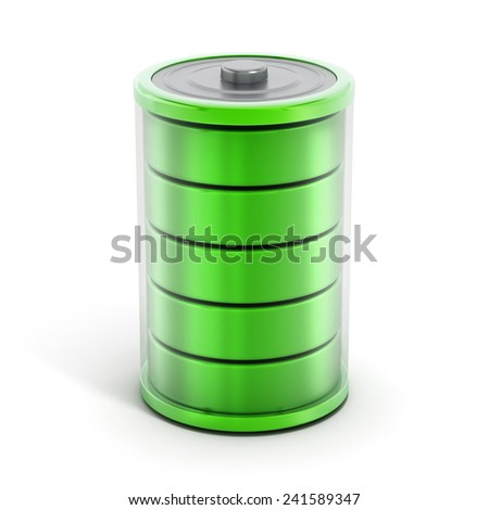 Full battery icon isolated on white background.