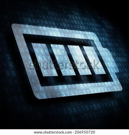 full battery symbol - stock photo