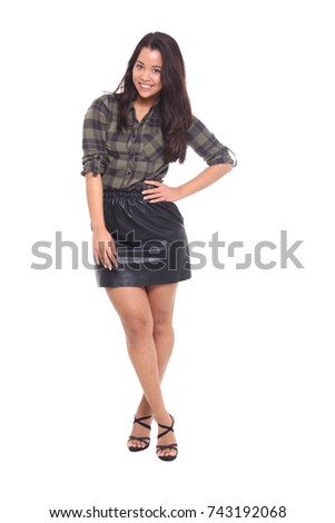 Full body asian woman