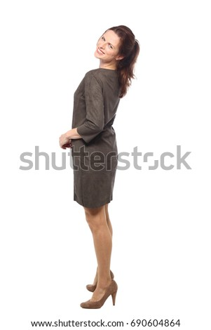 Full body caucasian woman