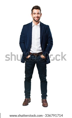 full body cool man - stock photo