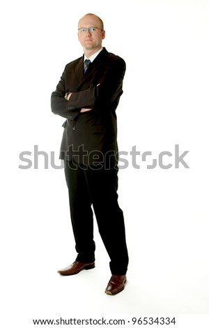 full body shot of a business man - stock photo