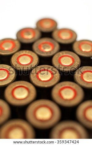 Full box of 7.65 cartridges. - stock photo
