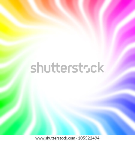 Full colored twirl background with white copy space - stock photo