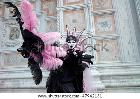 Full decorative carnival costume in Venice