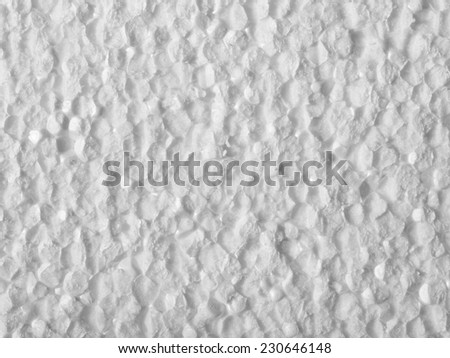 Full frame closeup of a white Polystyrene surface - stock photo