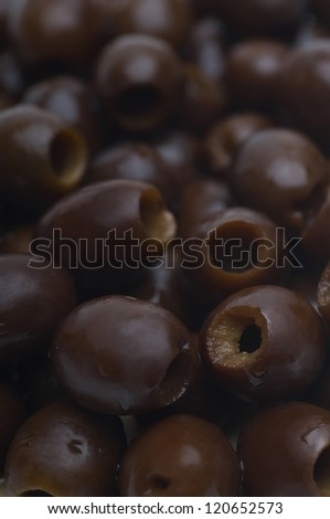 Full frame image of black olives