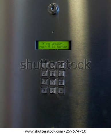 Full frame of a digital door code lock - stock photo