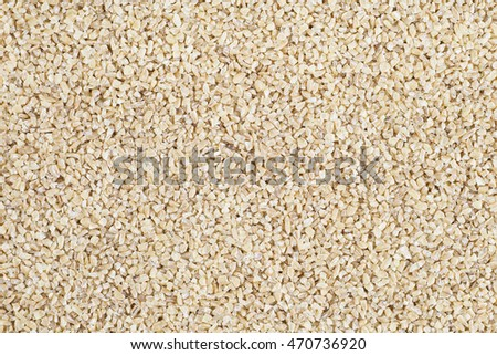 Full frame of bulgur wheat food texture.