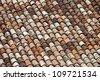 Full Frame of Obsolete Roof Tile - stock photo