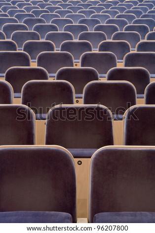 Full Frame of Spectators seats - stock photo