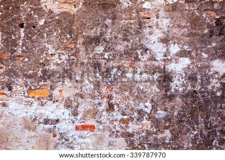 Full frame shot of old wall - Venice, Italy - stock photo