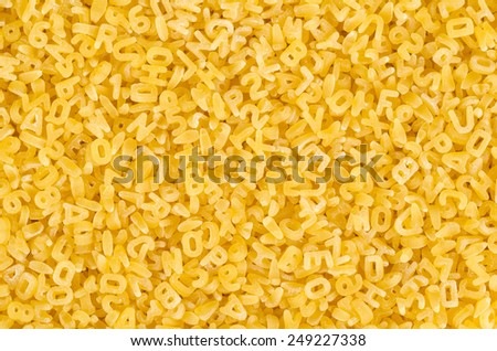 Full frame take of a heap of pasta letters - stock photo