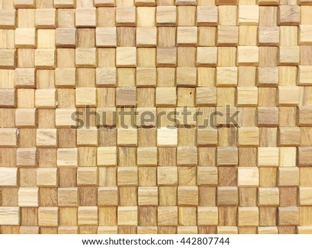 full frame vintage wooden mosaic in pale color