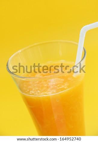 Full glass of orange juice - stock photo