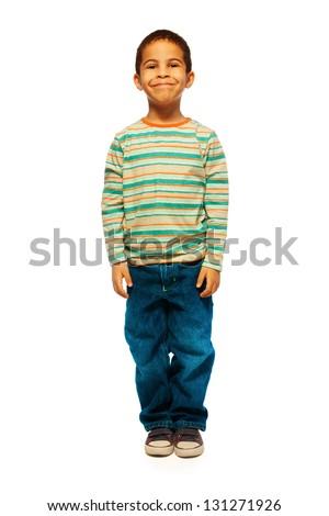 Wondrous Full Height Portrait Cute Black Boy Stock Photo 131271926 Short Hairstyles Gunalazisus