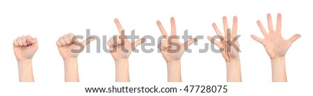 Full isolated studio picture from hands make a symbol sign