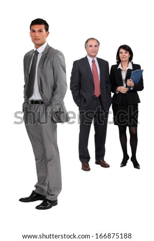 Full length business people - stock photo