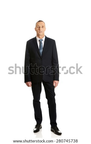 Full length confident businessman standing. - stock photo