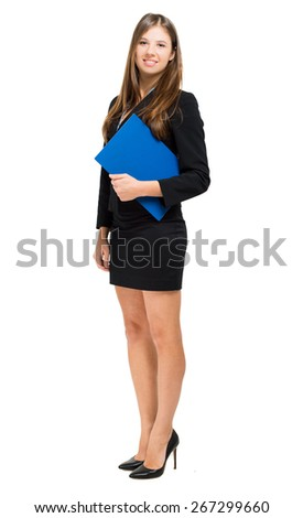 Full length female manager