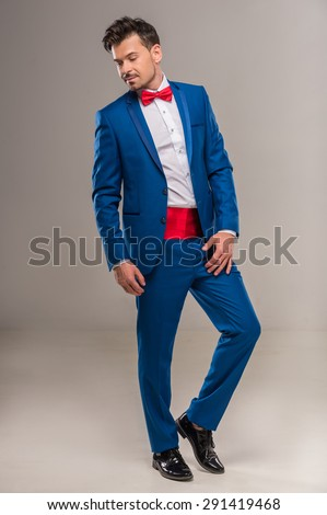 Full Length Image Handsome Nifty Man Stock Photo 291419555