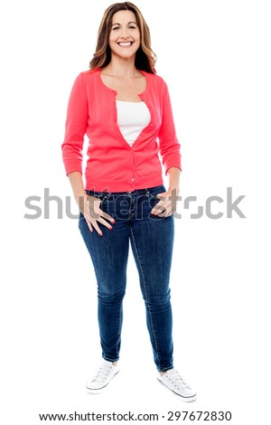Full length image of a stylish middle aged woman - stock photo