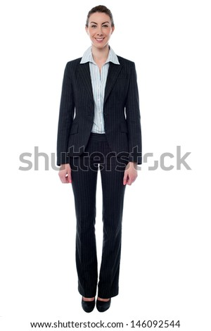 Full length image of business professional