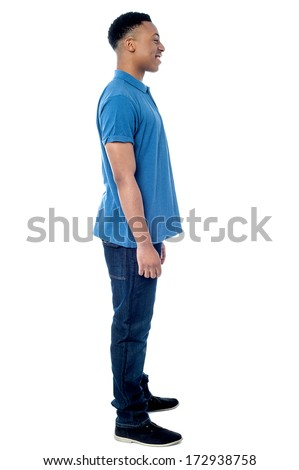 Full length image of smart young man - stock photo