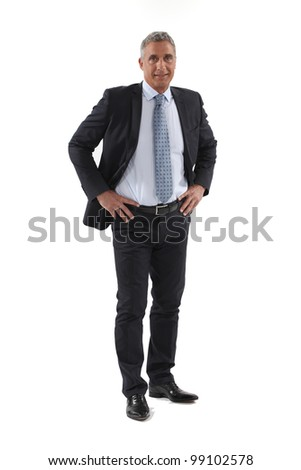 Full length mature businessman - stock photo
