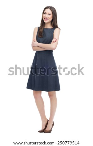 Full length of attractive young woman