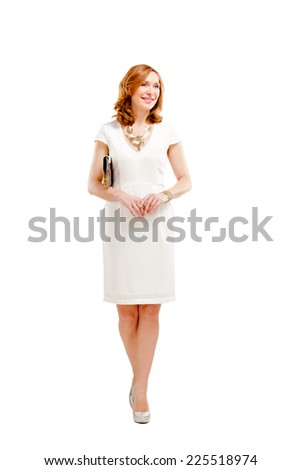 Full length of elegant female - stock photo